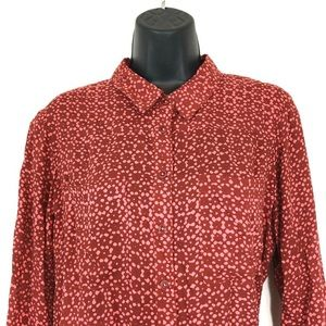 Anthropologie HOLDING HORSES 4 Red Pink Blouse